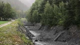 Val de Bagnes: le Merdenson en furie après les violents orages du 22 juillet