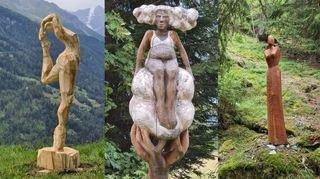 Val d'Hérens: deuxième vie pour les sculptures du Montagn'Art