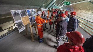 Bientôt le bout du tunnel pour Nant de Drance, le chantier de tous les superlatifs
