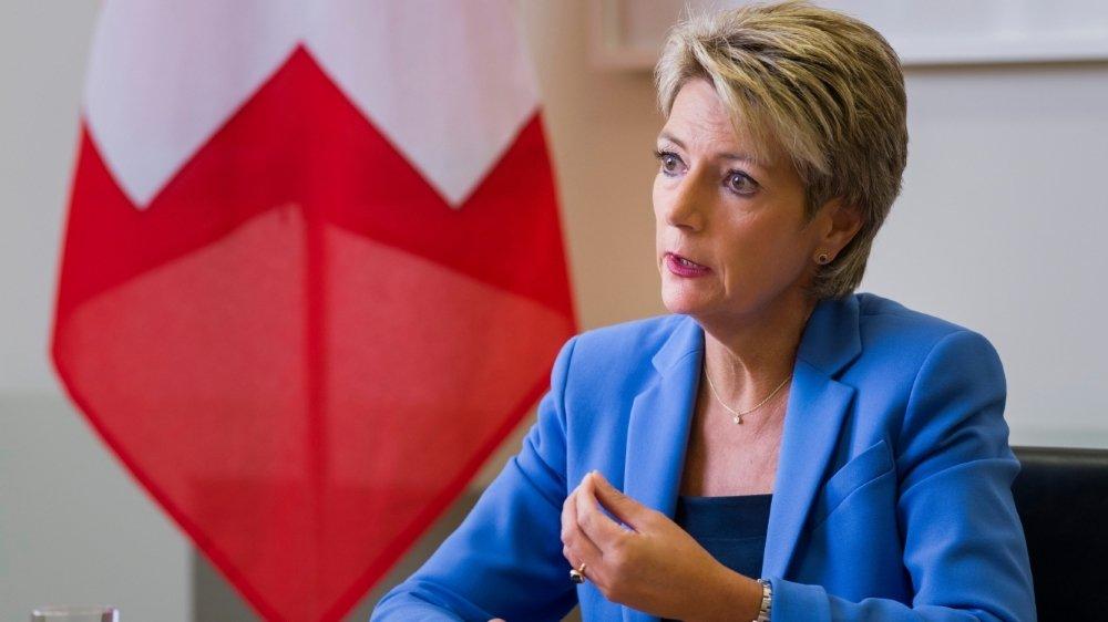 Interview avec la Conseillere Federale Karin Keller-Sutter, mardi 25 août 2020 a Berne.