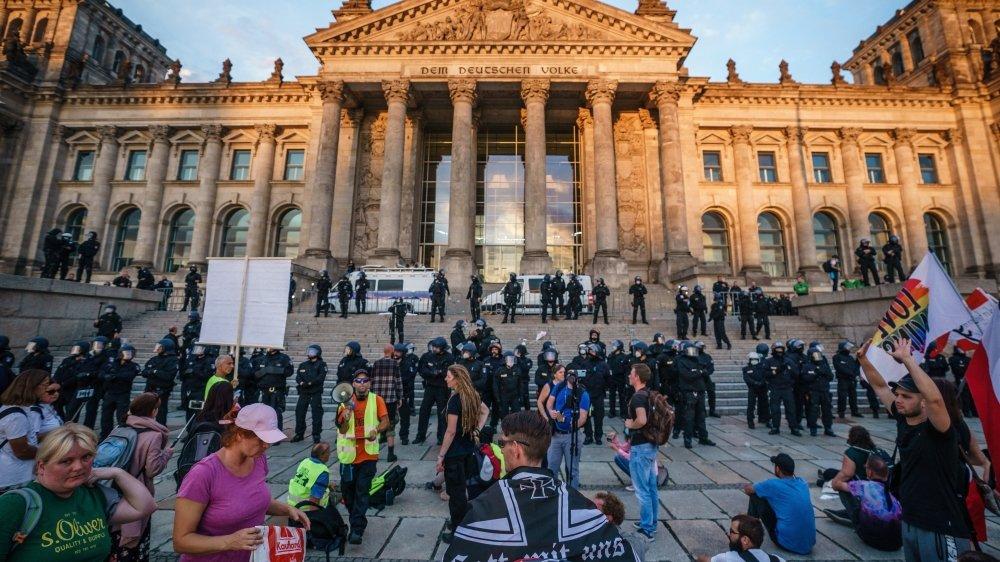 Le mouvement «anticorona» inquiète Berlin