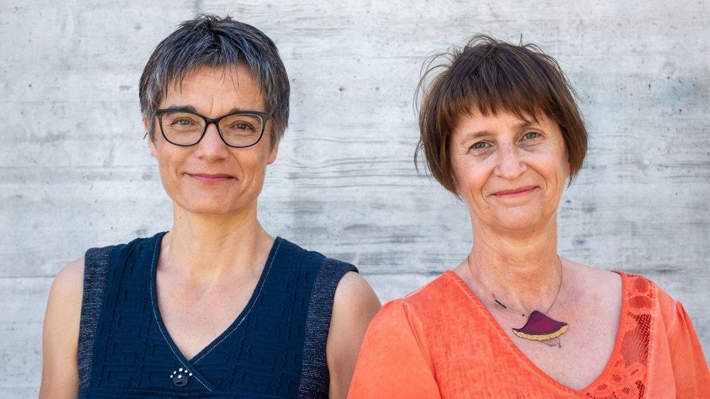 Les candidates Anouk Dorsaz-Vielle et Isabelle Remy-Carron.