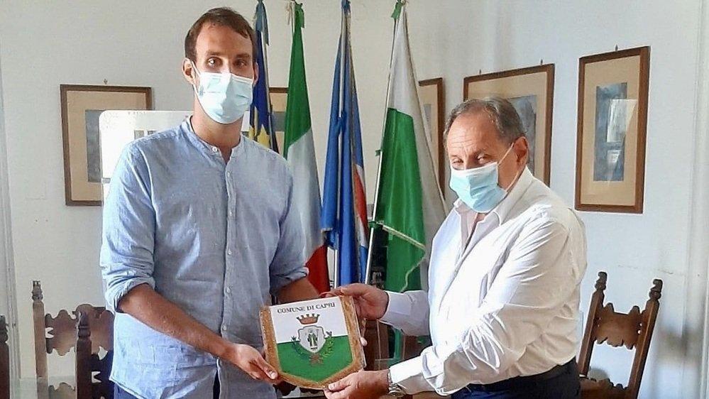 Nicola Criniti a été reçu par le syndic de Capri, Marino Lembo.