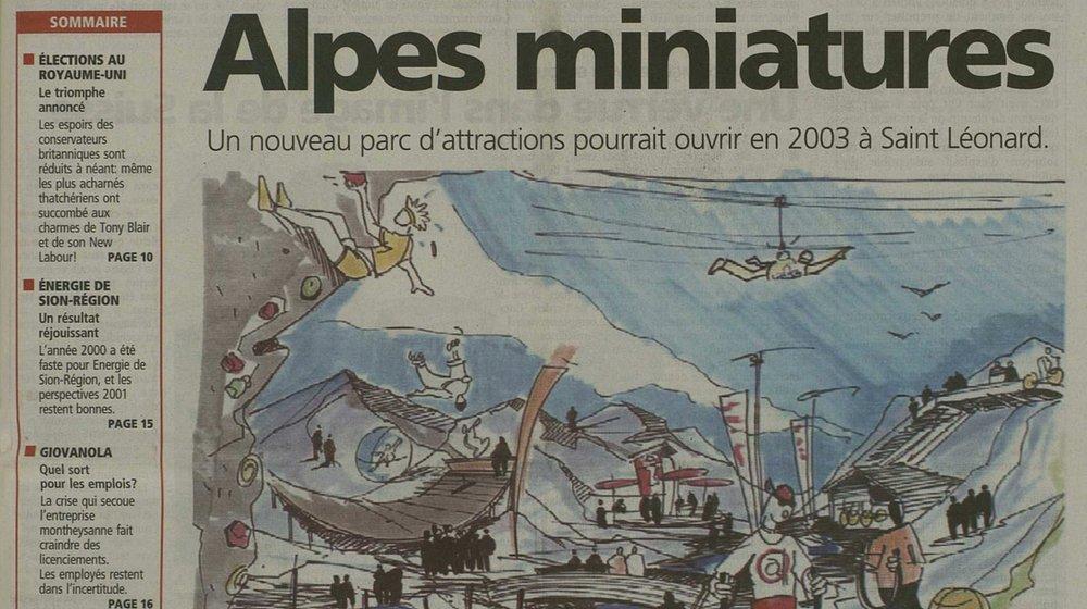"""En juin 2001, """"Le Nouvelliste"""" faisait sa une de cet ambitieux projet."""
