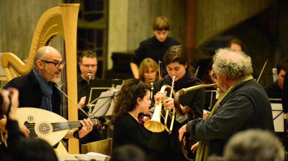 Michel Godard et son serpent seront présents à Lausanne samedi et à Sion dimanche.