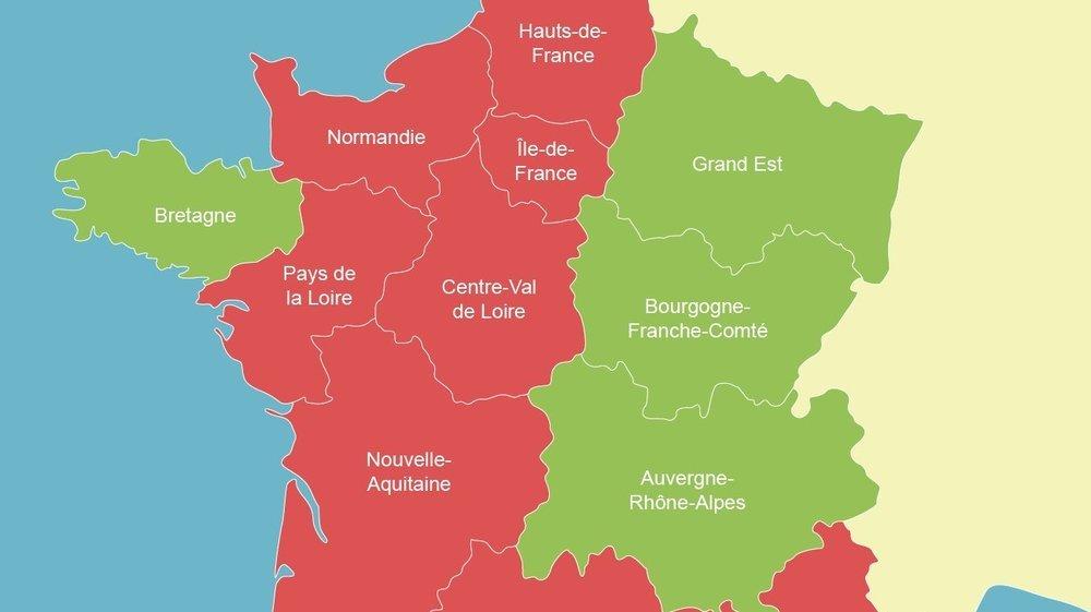 Coronavirus La Suisse Place 9 Regions De France En
