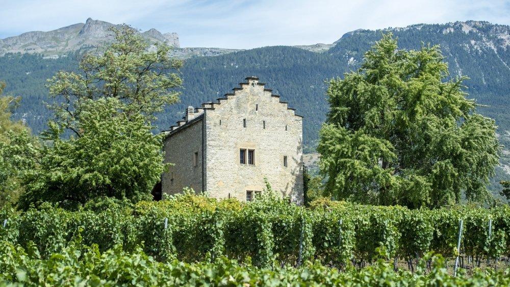 La tour de Muzot, demeure où Rainer Maria Rilke a vécu de 1921 jusqu'à sa mort en 1926.