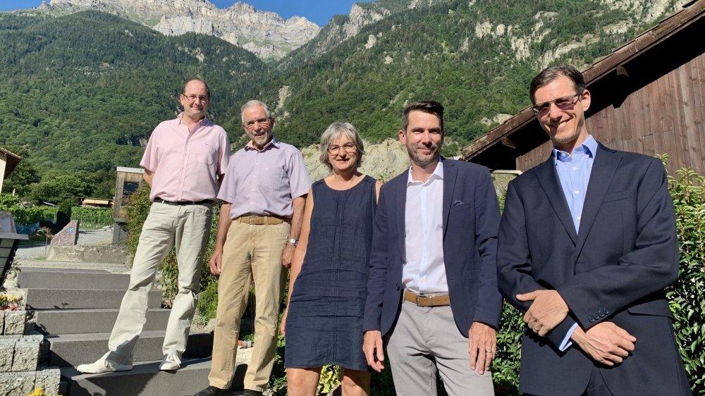 """Réunis sur la liste """"Ensemble pour Collonges"""", les cinq futurs conseillers communaux de Collonges ont été élus de manière tacite."""