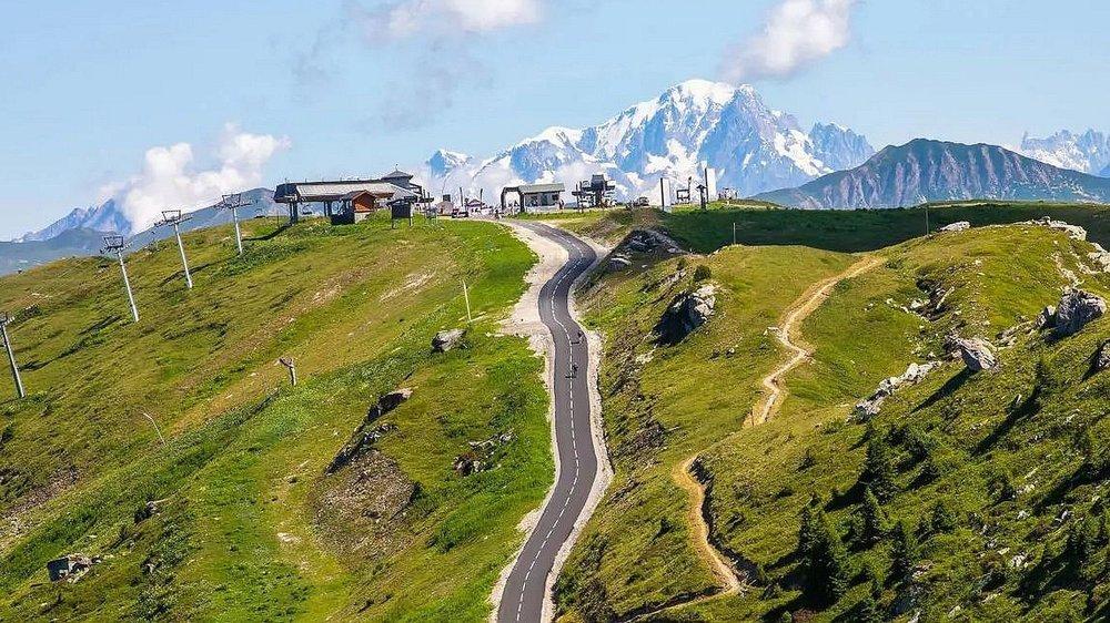L'arrivée du col de la Loze, à plus de 2300 mètres d'altitude.
