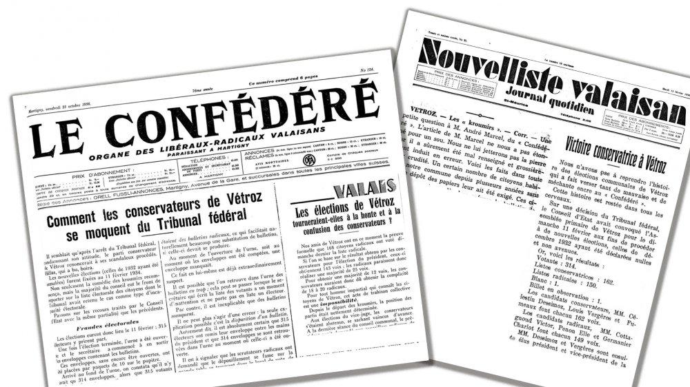 A l'époque, radicaux et PDC s'affrontaient aussi par journaux interposés.