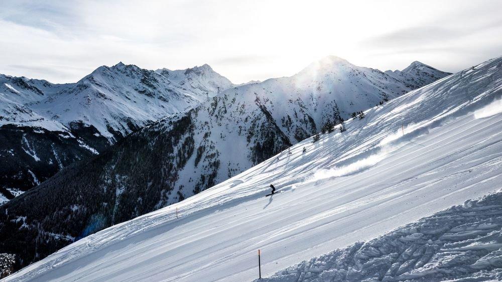 La piste des Crêts dans la secteur Lona à Grimentz est par exemple située sur l'alpage de Bendollaz.