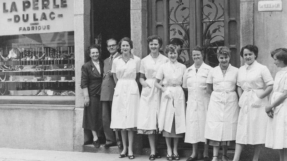 Les perlières de Saint-Gingolph dans les années 50.