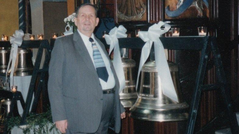 Roger Lugon-Moulin a financé 23 des 26 cloches de l'église de Finhaut en 1995.