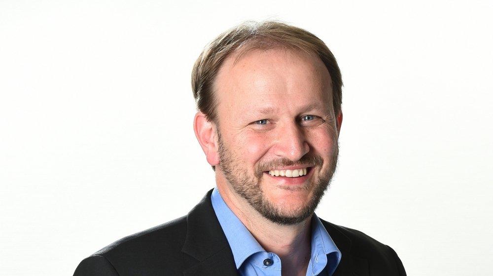 """Vincent Fragnière, rédacteur en chef du """"Nouvelliste""""."""