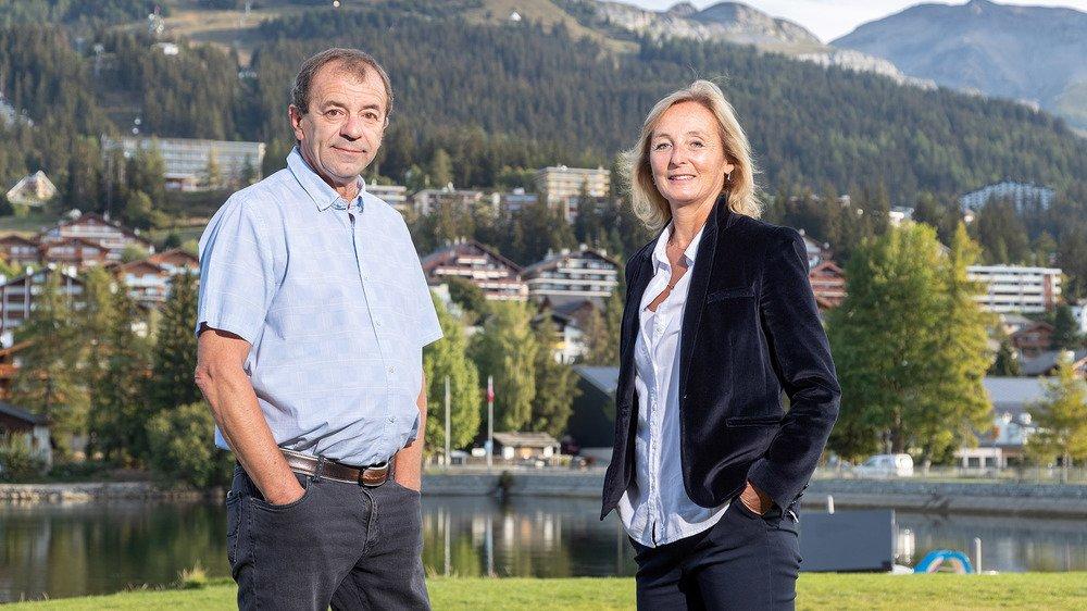 Nicole Bonvin-Clivaz et Zoran Bojkovic font campagne sous la bannière du MDC de Crans-Montana.