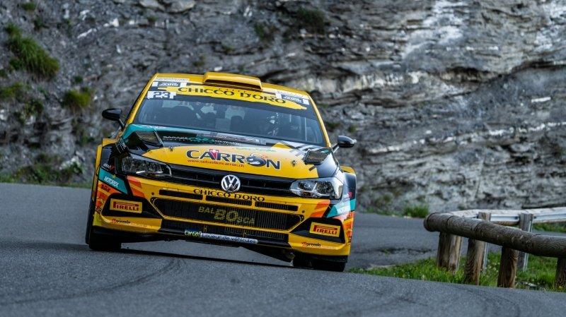 Sébastien Carron et son copilote Lucien Revaz, neuvièmes d'un rallye qui a réuni un plateau doré.