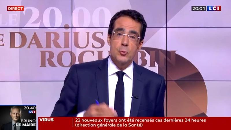 Darius Rochebin a fait une entrée remarquée sur la chaîne française LCI.