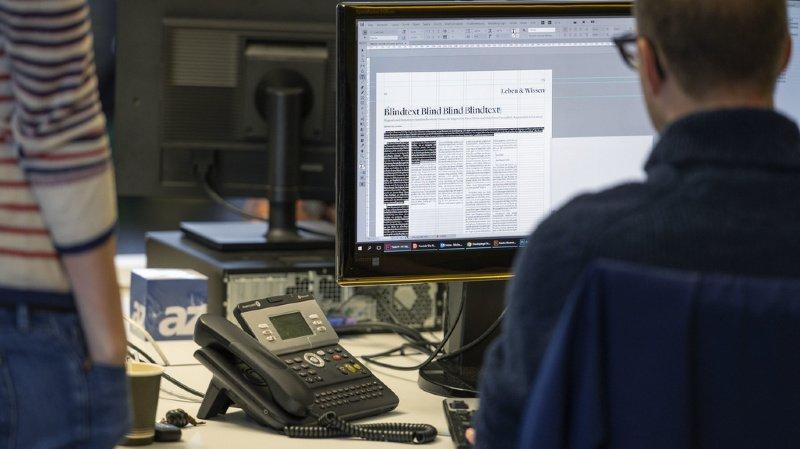 Le salaire médian des journalistes au moment de l'enquête en février 2020 était de 7333 francs. (illustration)