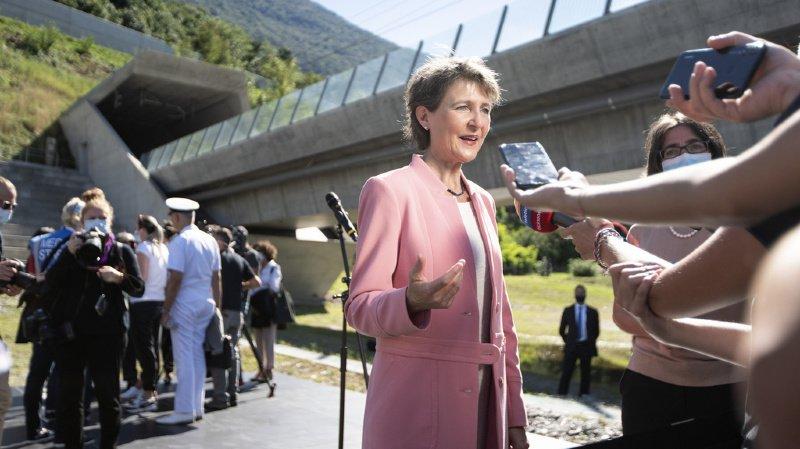 Tunnel du Monte Ceneri: Sommaruga rencontre les ministres européens des transports