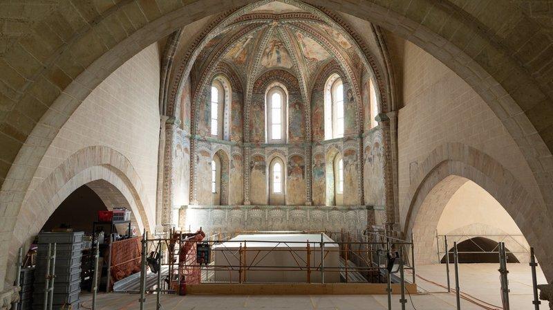 Sion: la basilique de Valère laisse entrevoir son chœur restauré avant de poursuivre sa mue