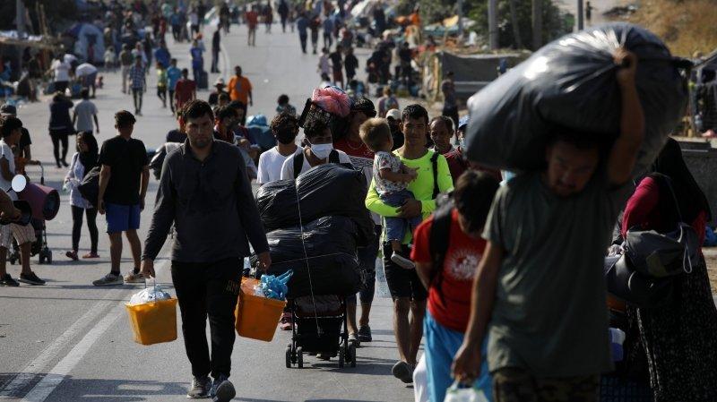Réfugiés évacués