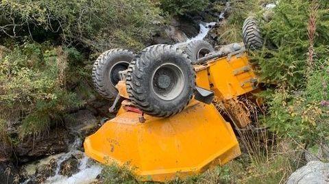 Spectaculaire accident de chantier à Grimentz
