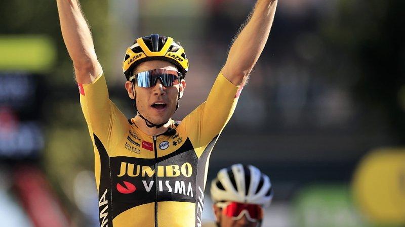 Cyclisme - Tour de France: le Belge Wout Van Aert gagne la 7e étape