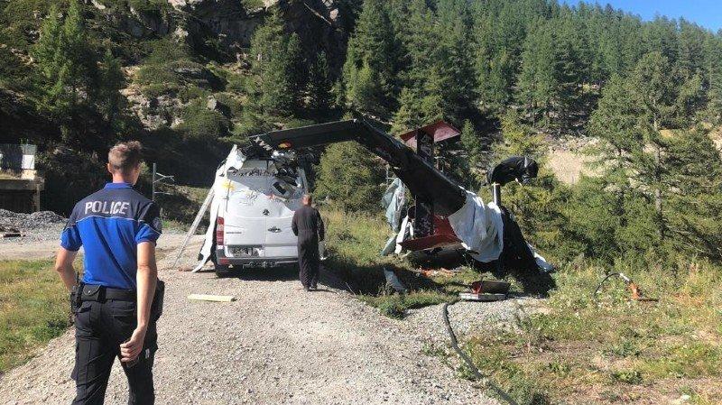 Un hélicoptère heurte une camionnette entre Täsch et Zermatt, aucun blessé