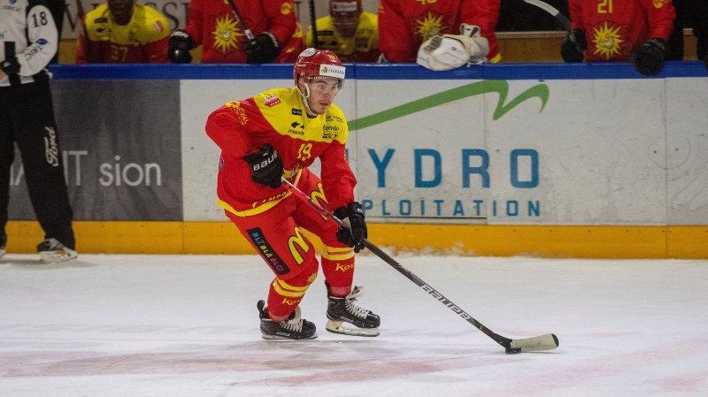 Le Genevois Thomas Heinimann a inscrit le seul but du HC Sierre.