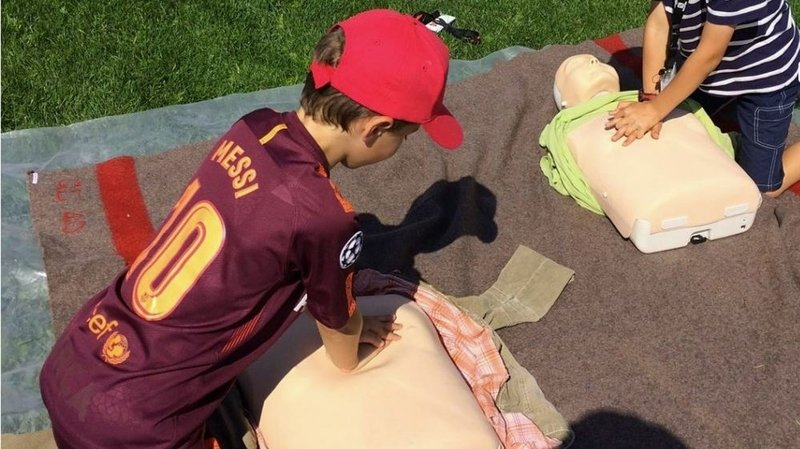 Savièse: des joutes pour les jeunes samaritains