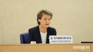 Sommaruga à l'ONU pour soutenir la profession de journaliste