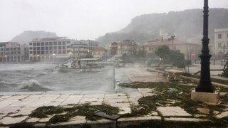 Ianos souffle fortsur les îles Ioniennes