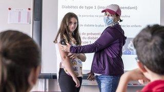 Miège: à l'école, avec une enfant diabétique