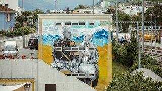Des graffitis sur les murs, à taguer sur les réseaux