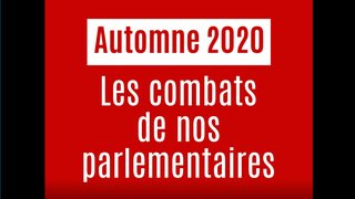 Session d'automne du Parlement: les combats des Valaisans